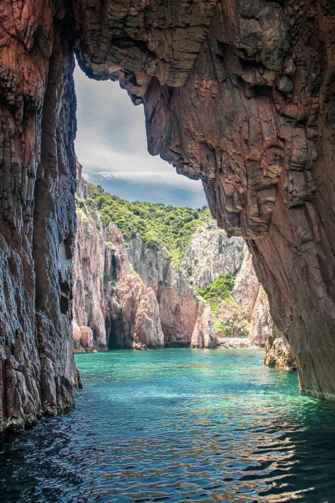 Promenade en mer Capo Rosso La Porte du Paradis